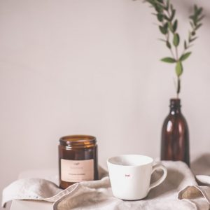 świeca z wosku sojowego