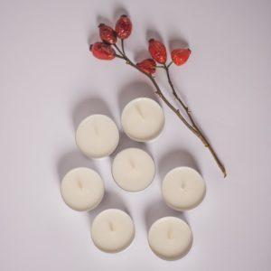 tealight z wosku sojowego